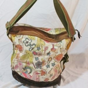LUCKY BRAND suede boho hobo satchel shoulder bag
